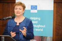 Opening of the photo exhibition entitled 'On Solid Ground', organised in London, with the participation of Kristalina Georgieva, Member of the EC