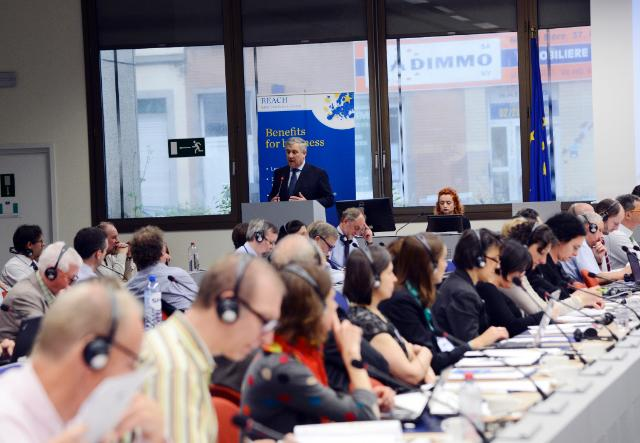 Participation of Antonio Tajani, Vice-President of the EC, at the technical workshop on the follow-up to the REACH review