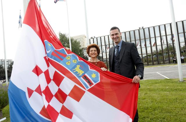 Participation of Androulla Vassiliou, Member of the EC, at the ceremony celebrating the entry of Croatia as the 28th Member State of the EU, and the recognition of Croatian as the 24th official language of the EU
