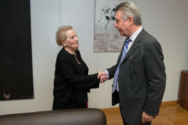 Visit of Madeleine Albright, Chair of Albright Stonebridge Group, to the EC