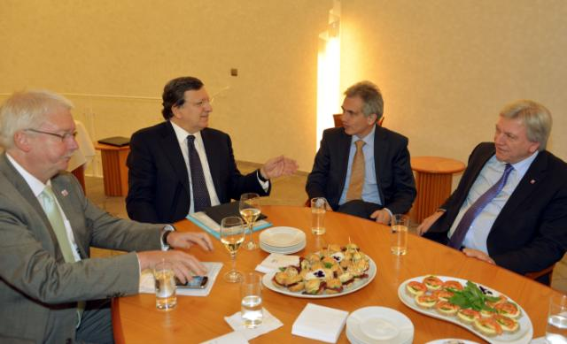 Visit of José Manuel Barroso, President of the EC, to Frankfurt am Main