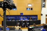 Press conference by Kristalina Georgieva, Member of the EC, following the vote of the EP approving the practical programme to train and deploy European volunteers in humanitarian projects, followed an online chat
