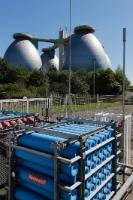 The sewage plant Klärwerk Bottrop is producing air liquide for its own filling station