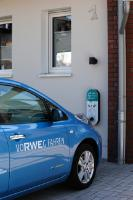 The RWE future house (RWE-Zukunftshaus) has its own charging station for electric cars.
