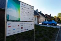 The information panel about the RWE future house (RWE-Zukunfshaus)