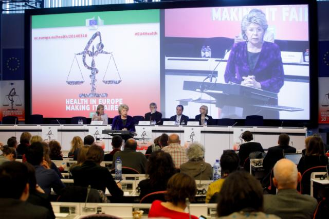 Participation of Viviane Reding, Vice-President of the EC, and Tonio Borg, Member of the EC, in the conference 'Health in Europe: Making it Fairer'