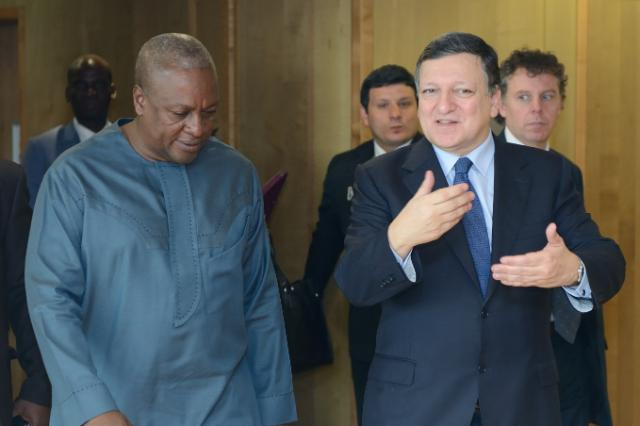 Visit of John Dramani Mahama, President of Ghana, to the EC