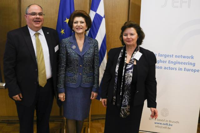 Participation of Androulla Vassiliou, Member of the EC, at the debate 'Engineering Education Facing the Challenge of the Crisis in Europe', organised by the SEFI