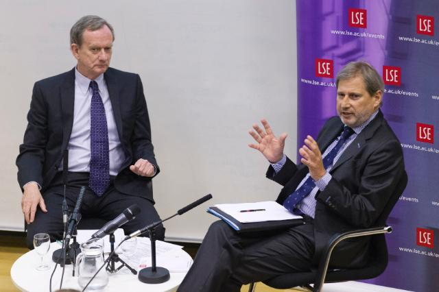 Participation de Johannes Hahn, membre de la CE, au débat 'From Subsidy to Strategic Investment: what can the EU's new, reformed regional policy do for growth and jobs in 2014-20?', organisé par LSE
