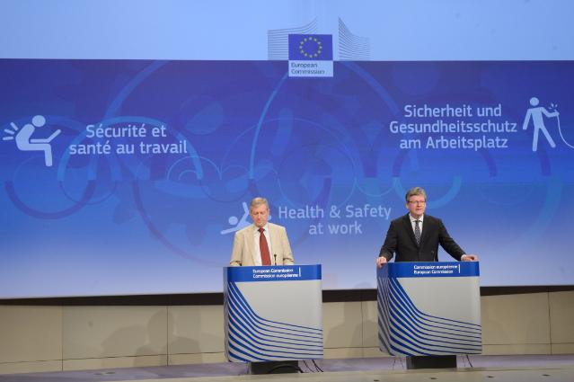 Press conference by László Andor, Member of the EC, on the EU Strategic Framework on Health and Safety at Work for the period 2014-2020