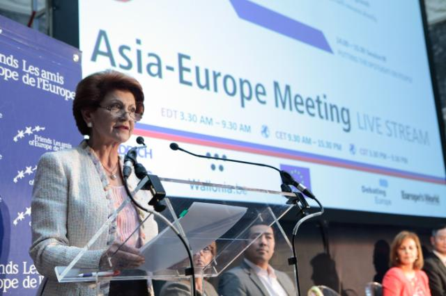 "Illustration of ""Participation of Androulla Vassiliou, Member of the EC, at the conference 'Global Europe' entitled 'Asia..."