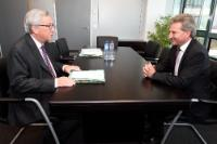 Meeting between Günther Oettinger, Vice-President of the EC, and Jean-Claude Juncker, President-elect of the EC