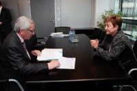Meeting between Kristalina Georgieva, Member of the EC, and Jean-Claude Juncker, President-elect of the EC
