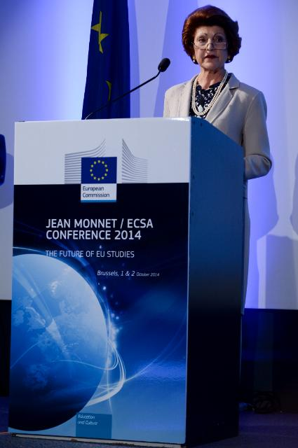 Participation of José Manuel Barroso and Androulla Vassiliou at the Jean Monnet/ECSA Conference 2014