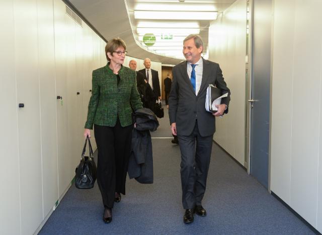 Visite d'Anne Brasseur, présidente de l'APCE, à la CE