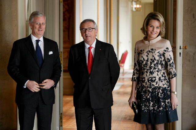 Meeting between Philippe, King of the Belgians, and Jean-Claude Juncker, President of the EC