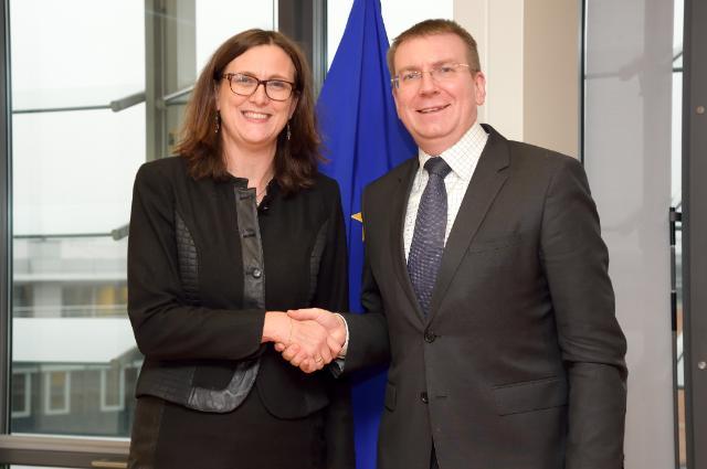 Visite d'Edgars Rinkēvičs, ministre letton des Affaires étrangères, à la CE