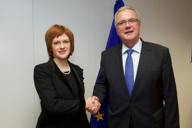 Visit of Zanda Kalniņa-Lukaševica, Latvian Parliamentary State Secretary for the European Affairs, to the EC