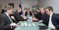 "Illustration of ""Visit of Elshad Nassirov, Vice-President for Investments and Marketing of the State Oil Company of..."
