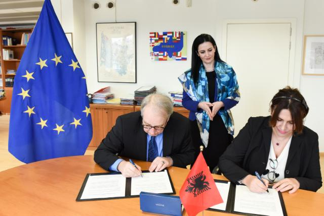 Signature ceremony of the Europe for Citizens programme by Albania