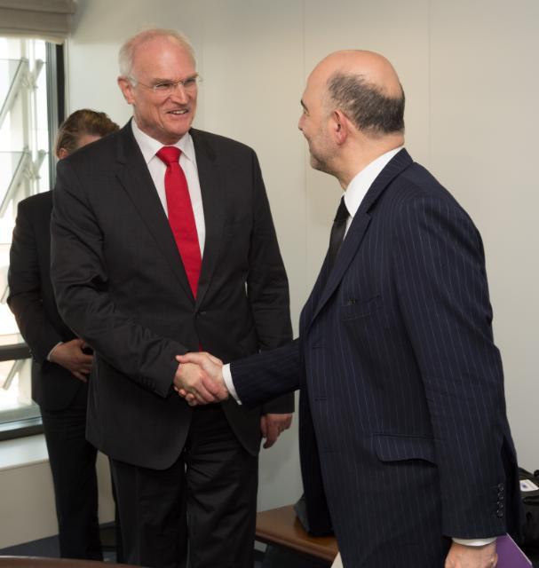 Visite d'une délégation du groupe parlementaire SPD du Bundestag allemand à la CE