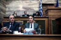 Giorgos Stathakis and Jyrki Katainen (in the foreground, from left to right)