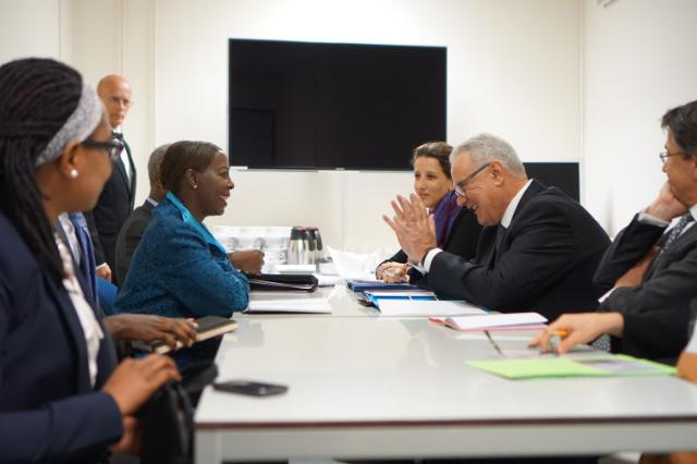 """Illustration of """"Meeting between Neven Mimica, Member of the EC, and Louise Mushikiwabo, Rwandan Minister for Foreign..."""