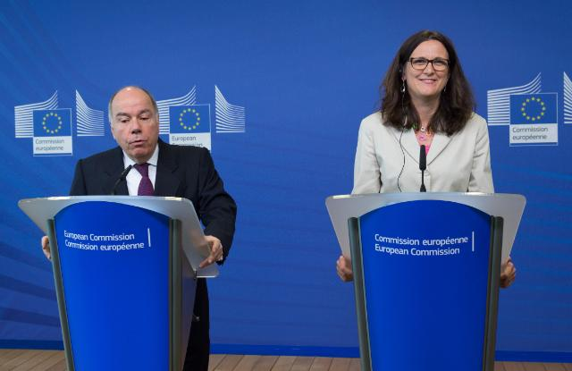 Joint press point by Cecilia Malmström, Member of the EC, and Mauro Vieira, Brazilian Minister for External Relations, following the EU-Mercosur Ministerial meeting
