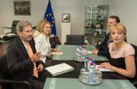 Visite de Jadranka Joksimović, ministre serbe sans portefeuille chargée de l'Intégration européenne, à la CE