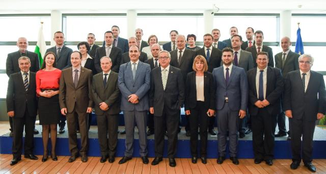 Jean-Claude Juncker and Kristalina Georgieva received a delegation of mayors from Bulgaria