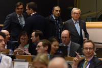 Participation de Jean-Claude Juncker, président de la CE, et Pierre Moscovici, membre de la CE, à une réunion conjointe des Commissions TAXE et ECON du PE