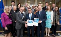 Participation de Vytenis Andriukaitis et Carlos Moedas, membres de la CE, à un déjeuner de travail du GEE