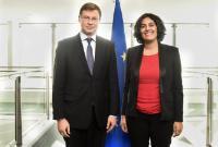 Visite de Myriam El Khomri, ministre française du travail, de l'emploi, de la formation professionnelle et du dialogue social, à la CE