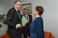 Visit of Igors Ludboržs, Member of the Court of Auditors, to the EC