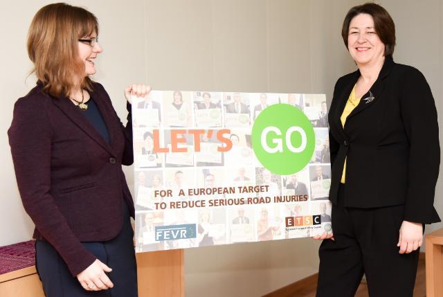 Visite de Ellen Townsend, directrice des Politique du Conseil européen pour la sécurité des transports (ETSC) à la CE