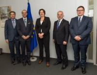 Visite de PDG de l'Association des compagnies européennes de navigation aérienne (AEA) à la CE