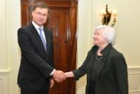 Visit of Valdis Dombrovskis, Vice-President of the EC, to the US