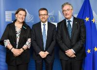 Visit of Inès Ayala Sender, Member of the EP, and Joaquín Olona, Regional Minister of Rural and Sustainable Development of the Government of Aragón, to the EC