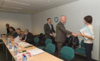 Visite de représentants du syndicat européen IndustriAll et du comité d'entreprise européen Caterpillar, à la CE