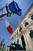 The Maltese and european Flags