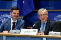Jean-Claude Juncker, President of the EC, participates in the conference of CDU and CSU party leaders at EU, federal and regional level.