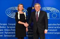 Meeting between Antonio Tajani, President of the EP, and Federica Mogherini, Vice-President of the EC