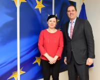 Visit of Chuck Robbins, CEO of Cisco Systems, to the EC