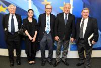 Visite de représentants de l'Institut Olga Lengyel pour les études sur l'Holocauste et les droits de l'homme à la CE