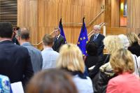 Minute of silence to pay tribute to the victims of the attack in Turku, Finland, in the presence of Günther Oettinger and Christos Stylianides, Members of the EC