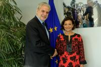 Visit of Najat Rochdi, UN Deputy Special Representative for the United Nations Multidimensional Integrated Stabilization Mission in the Central African Republic (MINUSCA), to the EC