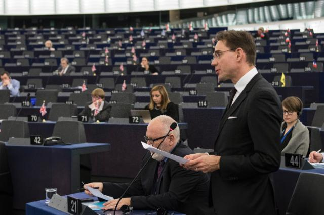 Participation of Frans Timmermans and Jyrki Katainen, Vice-Presidents of the EC, at the Plenary session of the EP