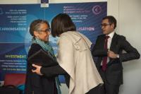 Visite d'Élisabeth Borne, ministre française des Transports, à la CE