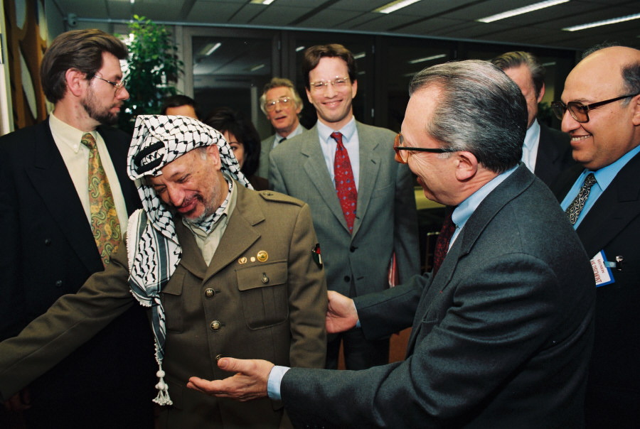 Visit by Yasser Arafat, President of the Palestinian National Authority to the EC
