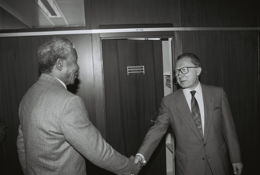 Visit of Nelson Mandela, Vice-President of the ANC, to the CEC